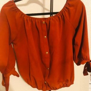 Papermoon blouse autumn color size M  gold buttons